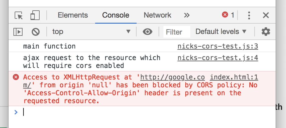 Access to XMLHttpRequest has been blocked by CORS policy in the wild